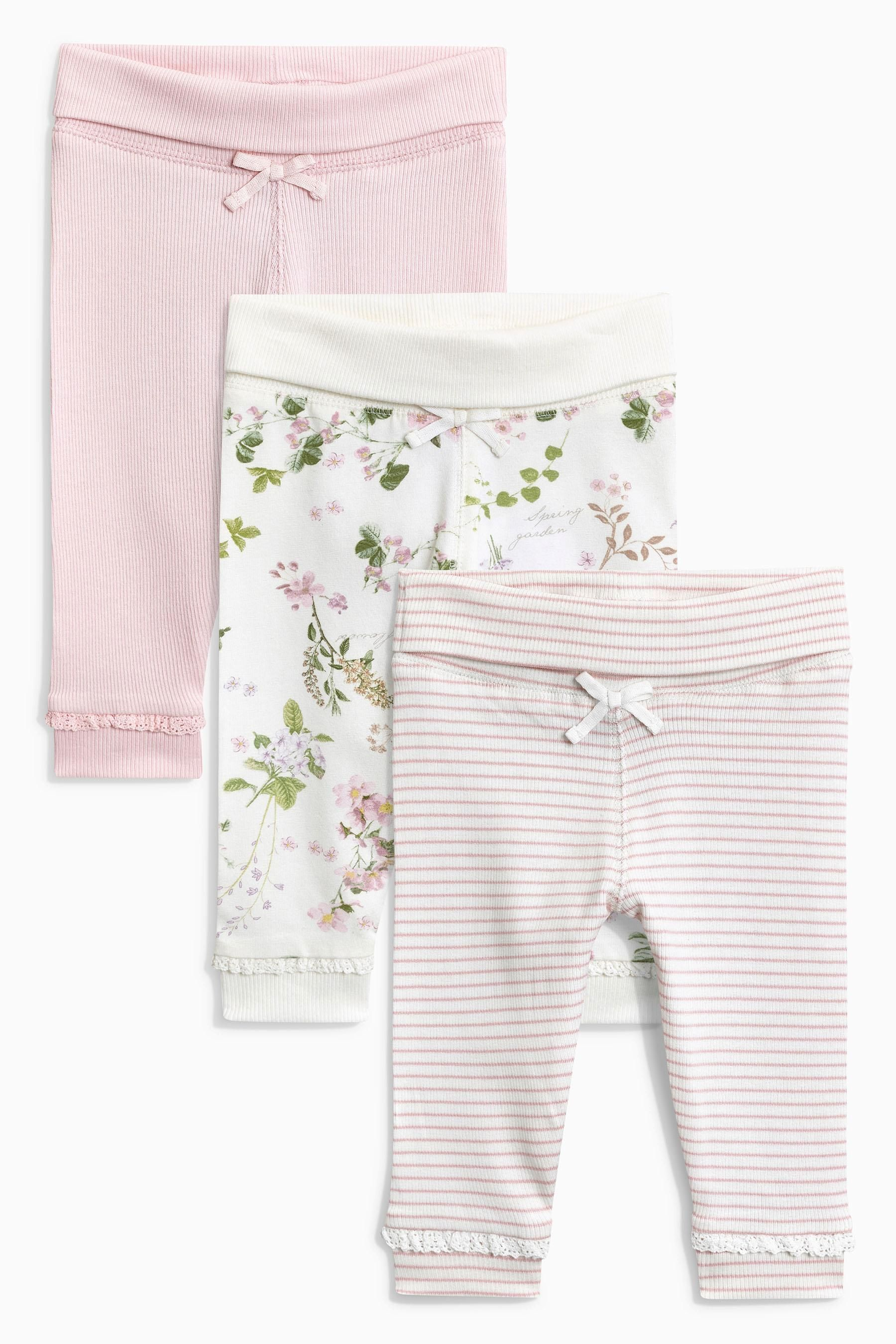 4eb56615a7f8 Buy Pink Leggings Three Pack (0mths-2yrs) from the Next UK online ...