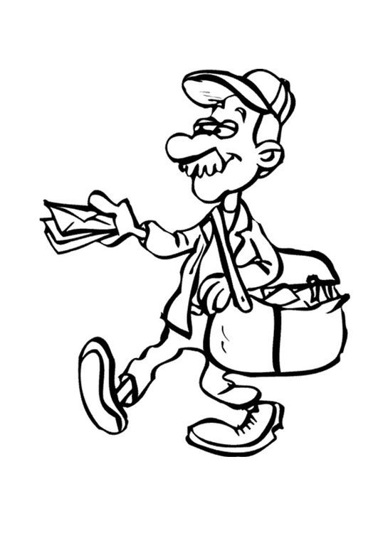Coloring Page Postal Carrier Img 9536 Coloring Pages Free Coloring Pages Digi Stamps