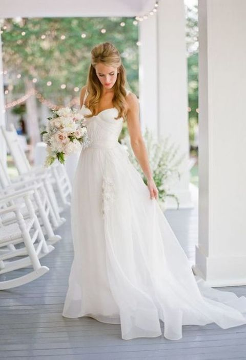60 Romantic And Airy Flowy Wedding Dresses Summer Wedding Dress Wedding Dress Flowy Beach Wedding Dress