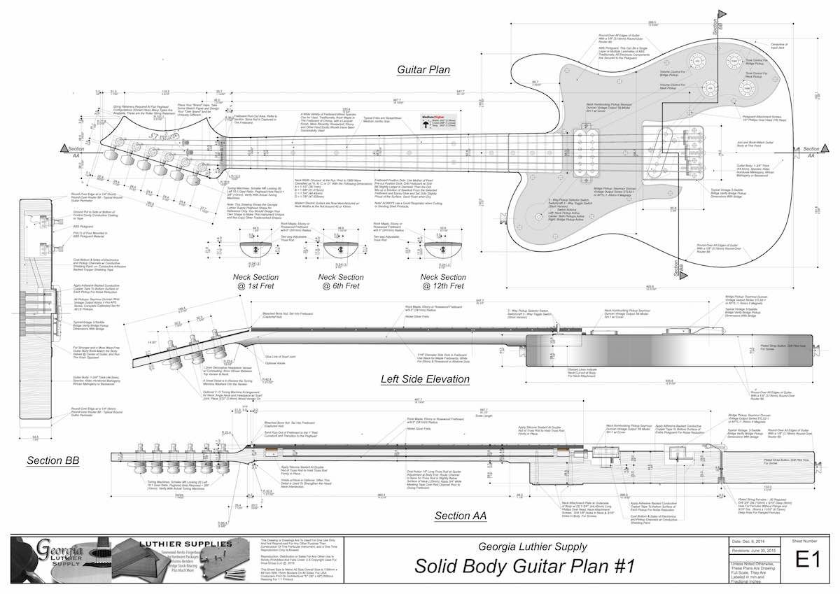 Image Result For Guitar Technical Drawing