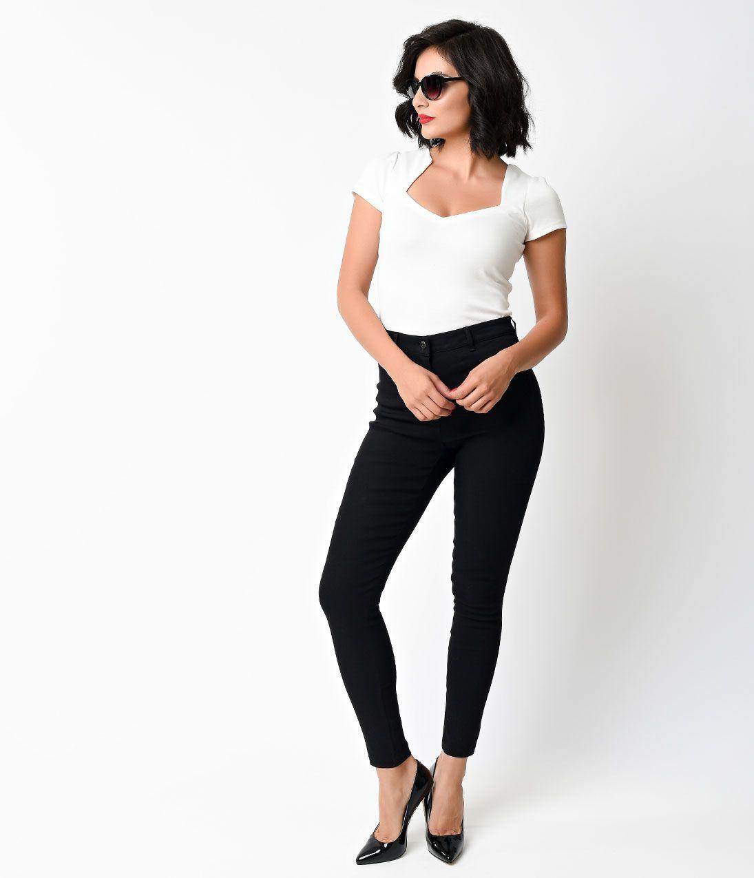 1950s pants amp jeans high waist wide leg capri pedal