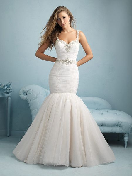 Utterly glamorous, mermaid wedding gown. @allurebridals