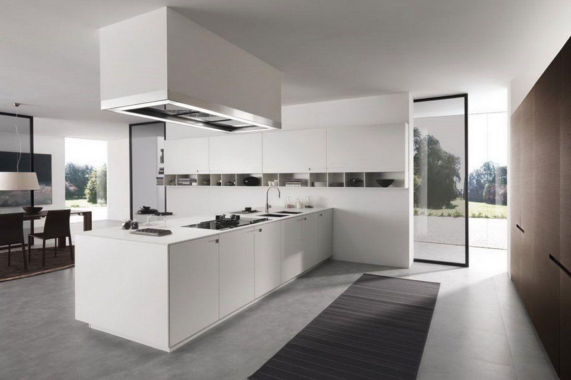 Excepcional cocina blanca de lujo bosquejo ideas de for Cocinas de lujo modernas