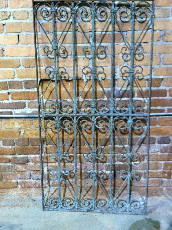 Gorgeous Antique Wrought Iron Fence Panel Very By Chichesters