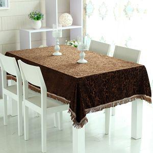 ヨーロッパのブラウンのテーブル用クロス。