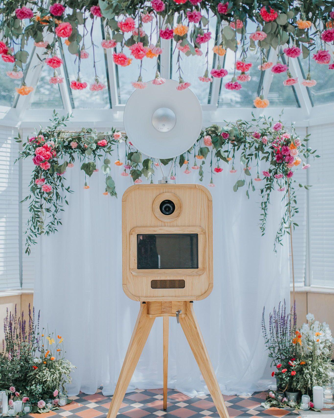 20 Inventive Ways to Revamp Your Wedding Photo Booth #PhotoBooth #WeddingPhotos #Wedding #WeddingIdeas #WeddingReception | Martha Stewart Weddings