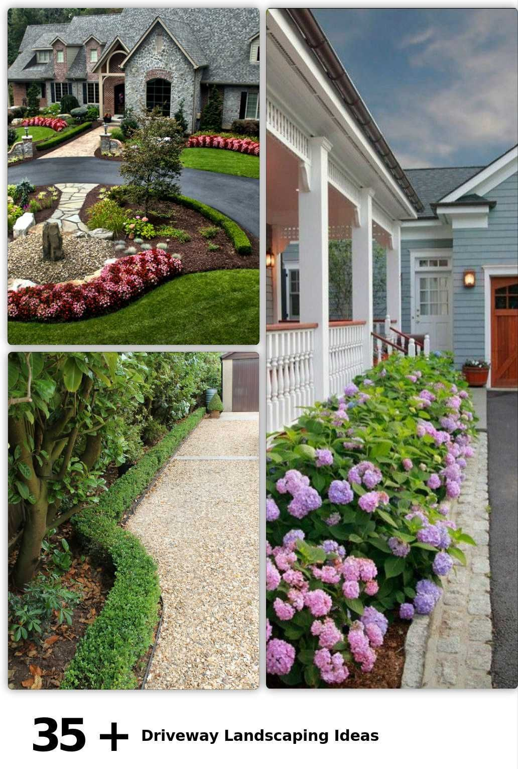 35 Driveway Landscaping Ideas Caution when watering only watering not dcaution