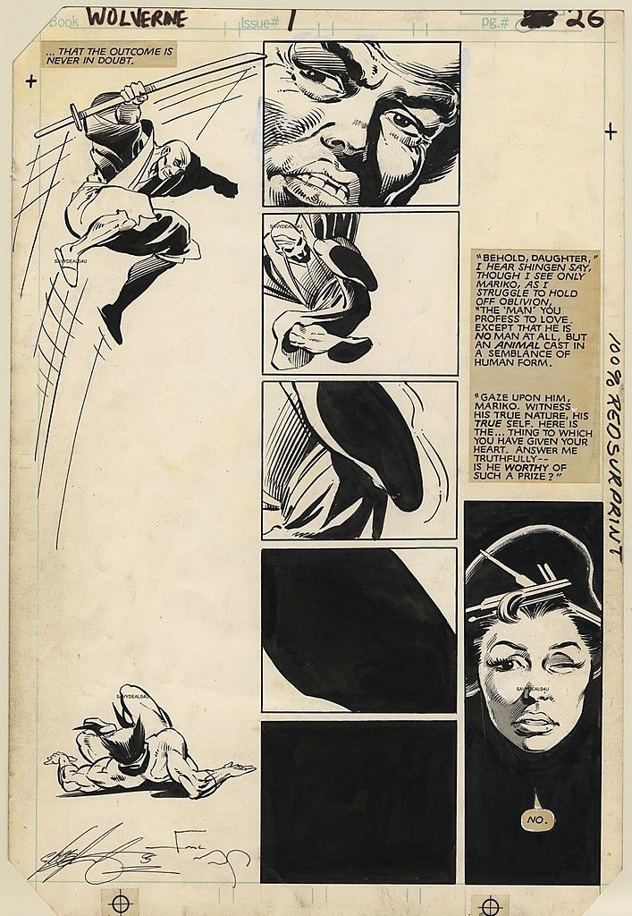 Wolverine #1, Page 26 by Frank Miller