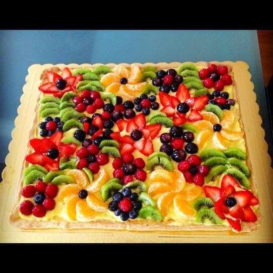 Colourful Fruit Cake: Le Ricette Di Mary Sol: Crostata Di Frutta Fresca