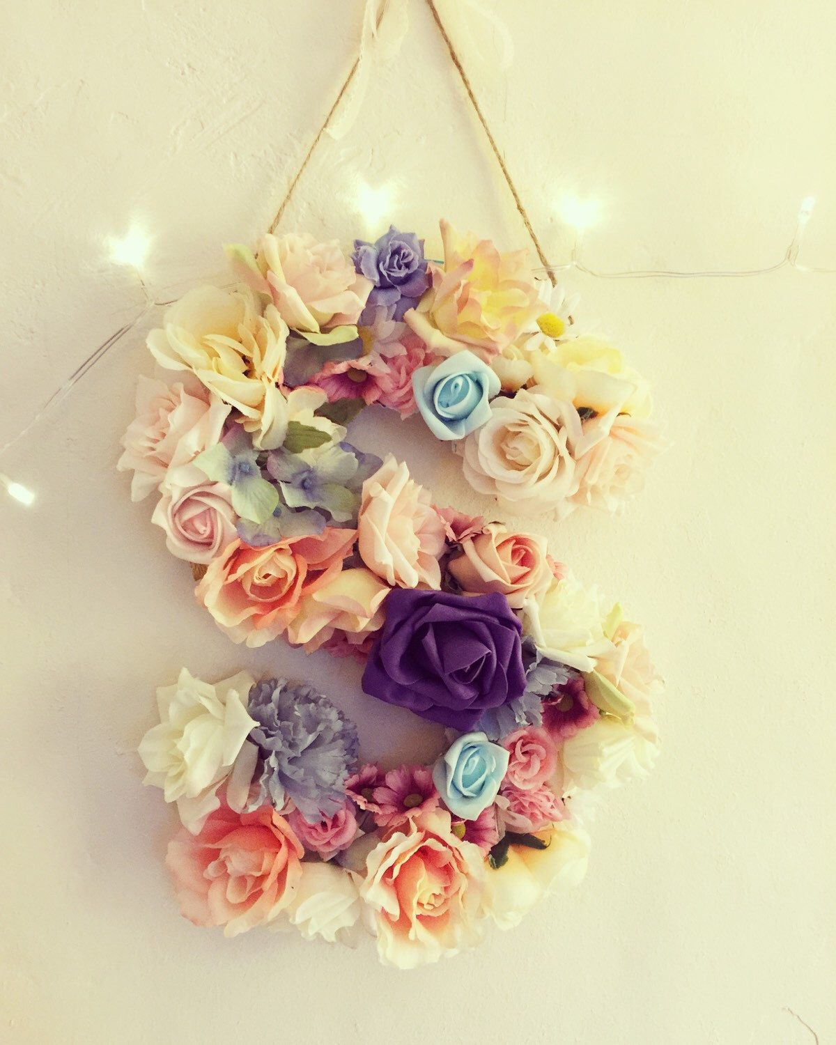 Flowers and Twine | Decorative Item | Hanging Flower Letters ...