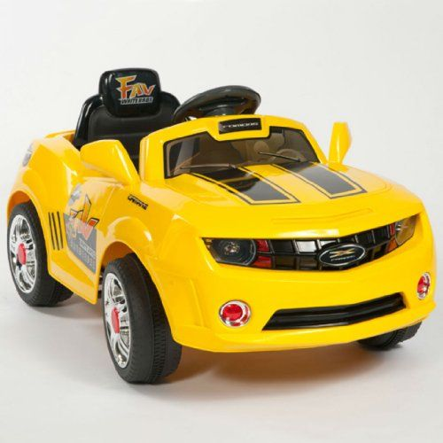 Kids Yellow Camaro Style Ride On Rc Car Remote Control Electric Wheels Mp3 Speddy Http