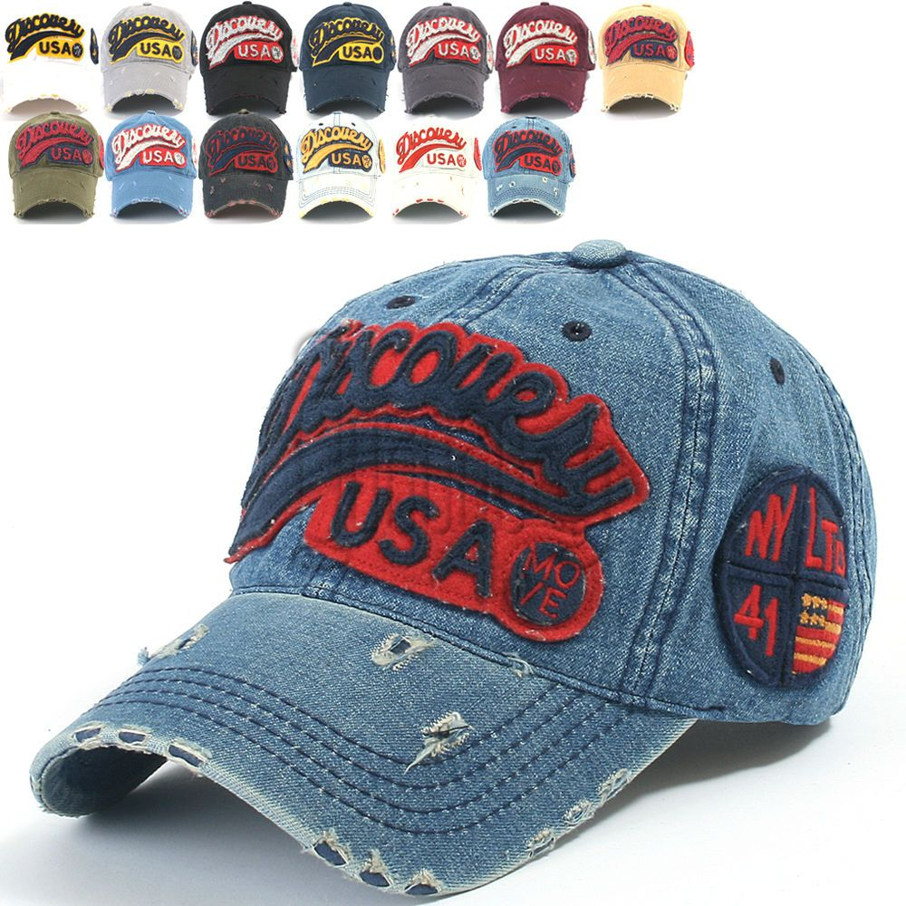7e9bed7c ililily Discovery Logo Distressed Vintage Baseball Cap Snapback Trucker Hat  604 #ililily #BaseballCap