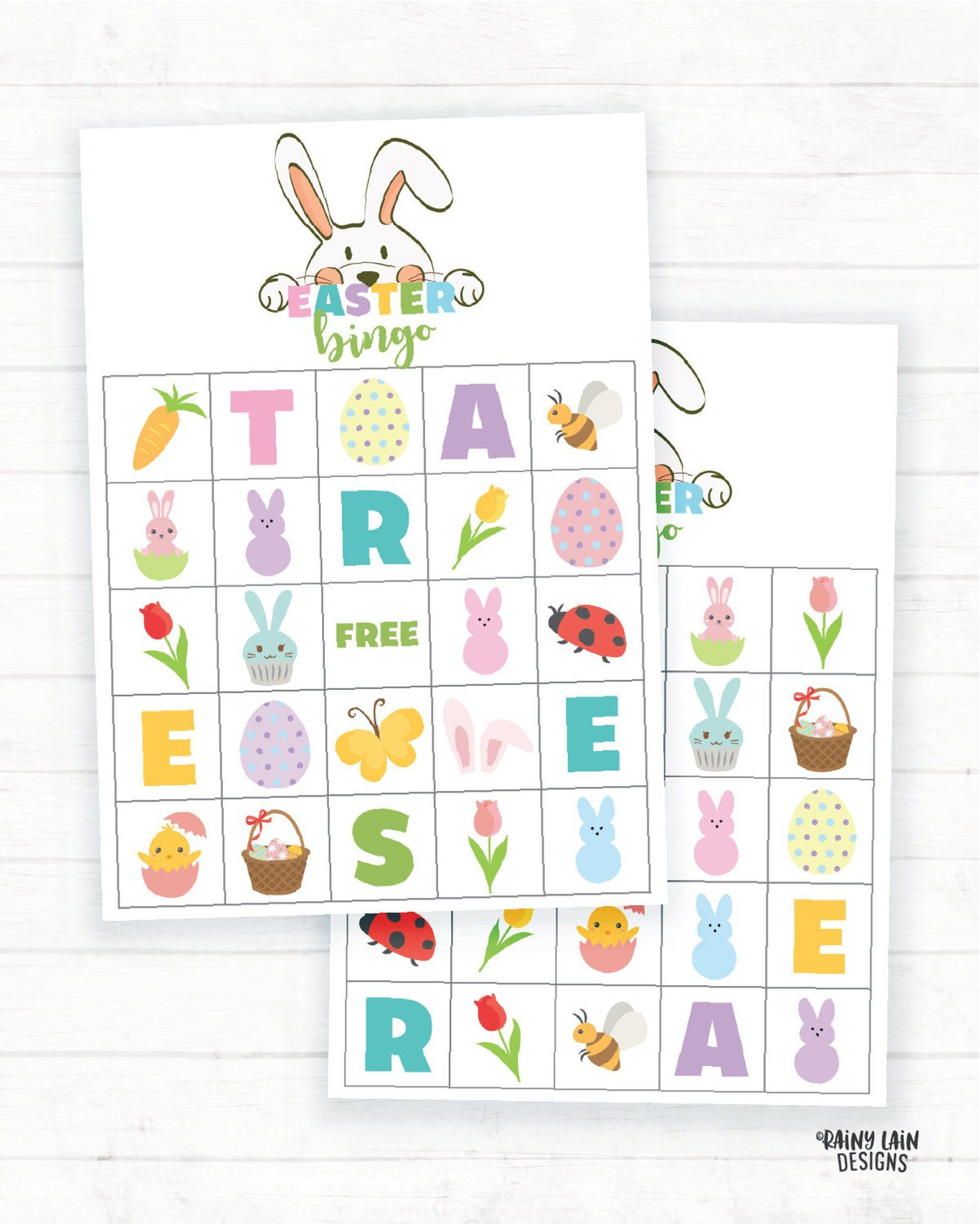 Easter Bingo, Spring Bingo Printable Easter Game