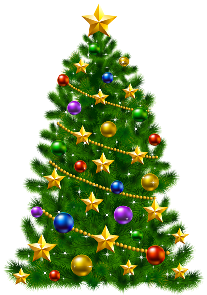 Transparent Christmas Tree With Stars Png Clipart Christmas Tree Coloring Page Christmas Tree Art Christmas Clipart
