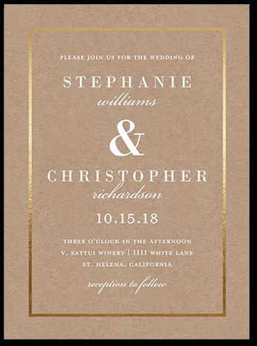 Simple Solid Frame 6x8 Wedding Invitations Shutterfly Wedding Invitations Wedding Frames Personalised Wedding Invitations
