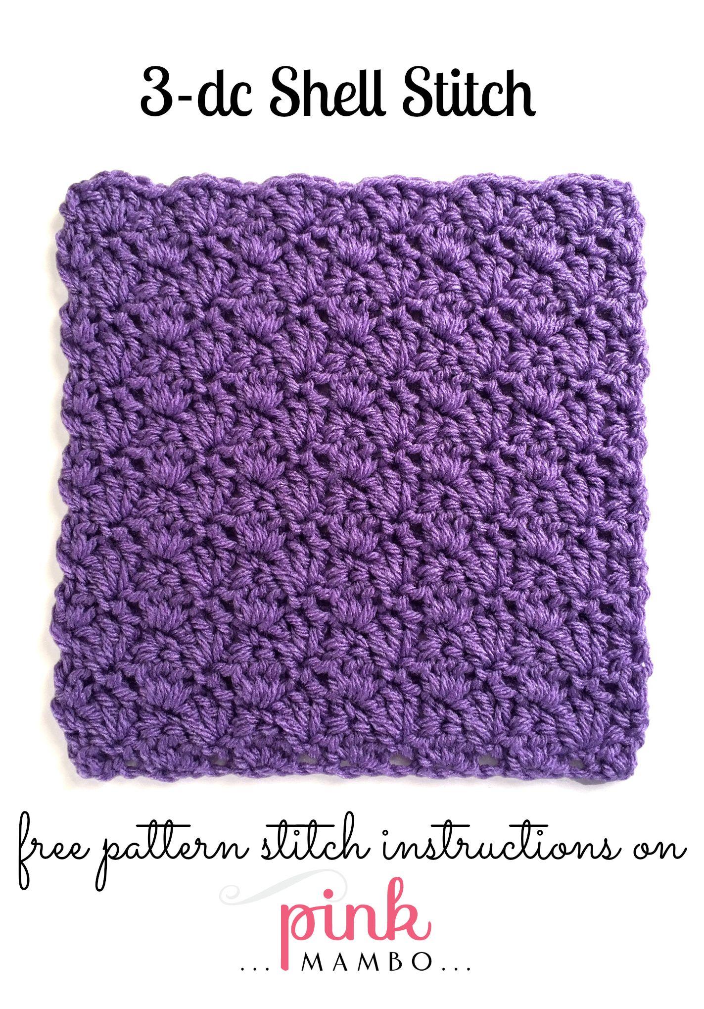 3-Double Crochet Shell Stitch Pattern | Crochet Home | Pinterest