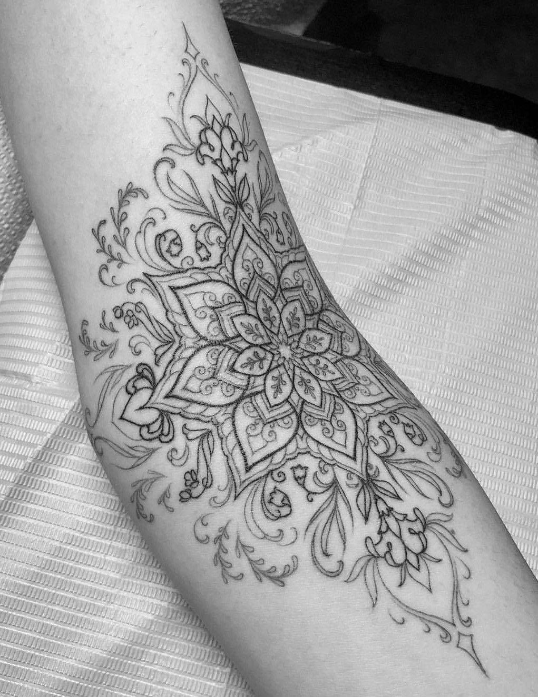 Photo of Mandala tattoo I like the open concept