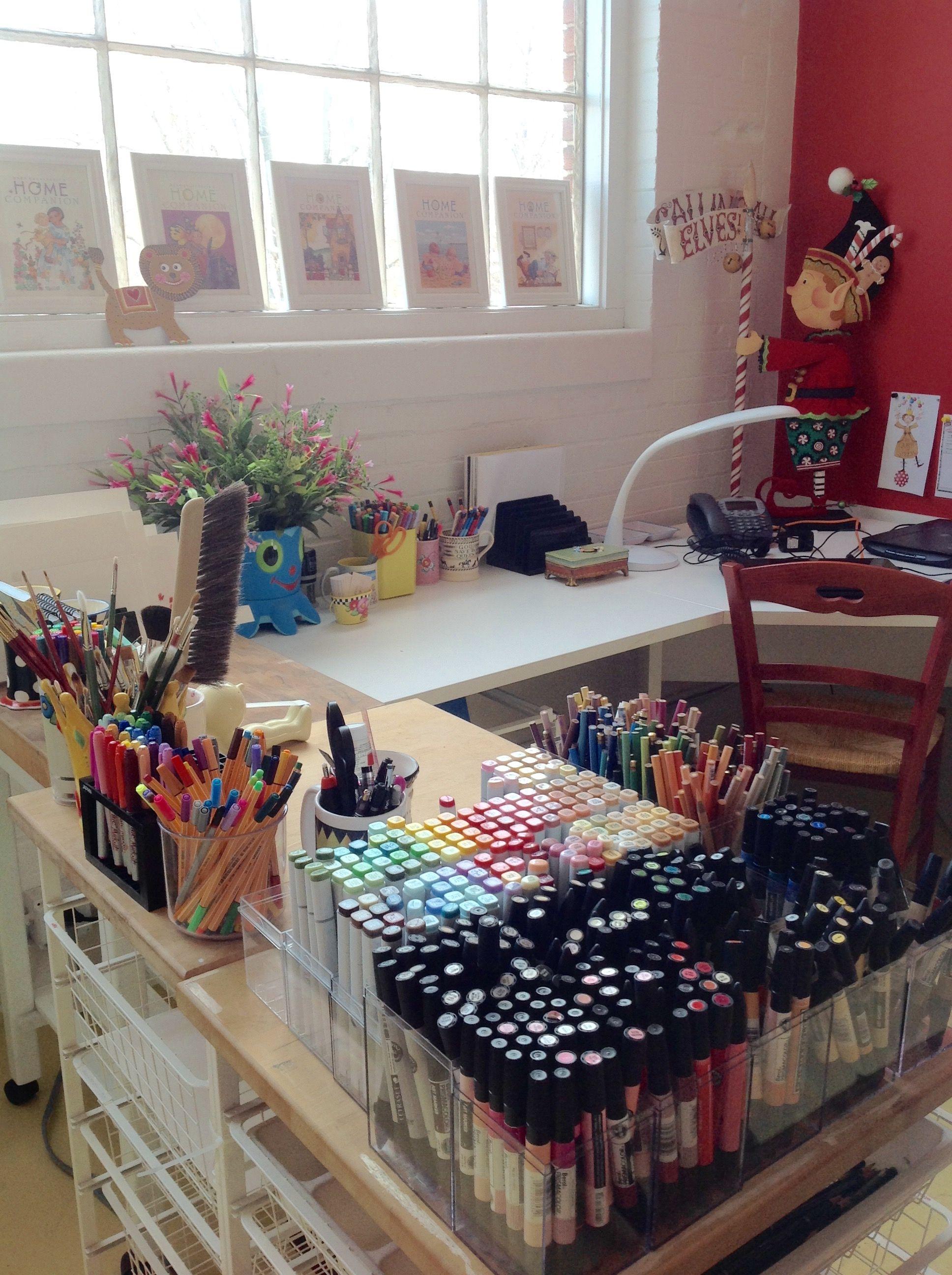 Office Space Art studio room, Art studio decor, Dream