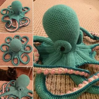 Finished my first Octopus! #crochetoctopus