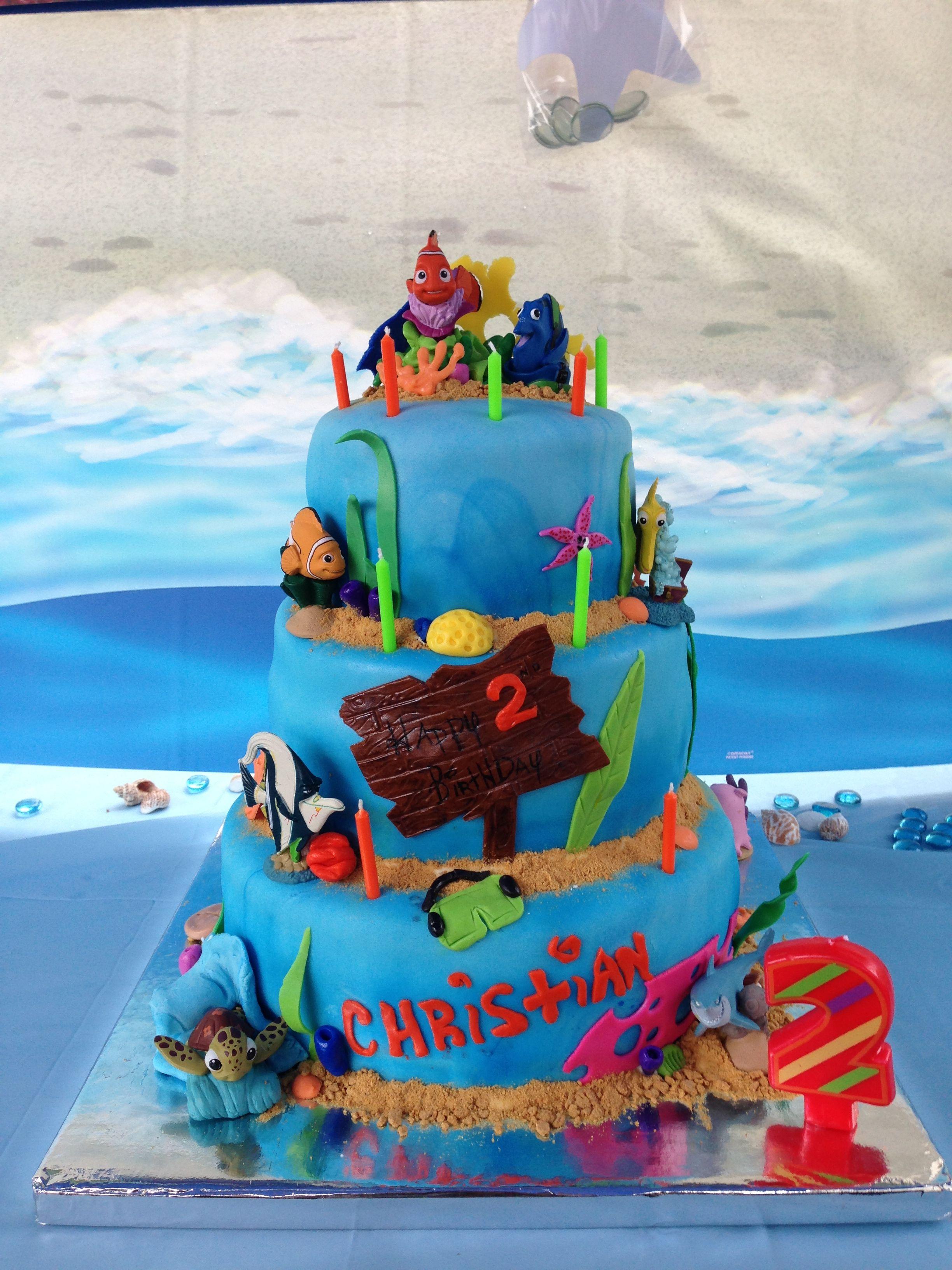 Christian's 2nd Birthday Finding Nemo Cake