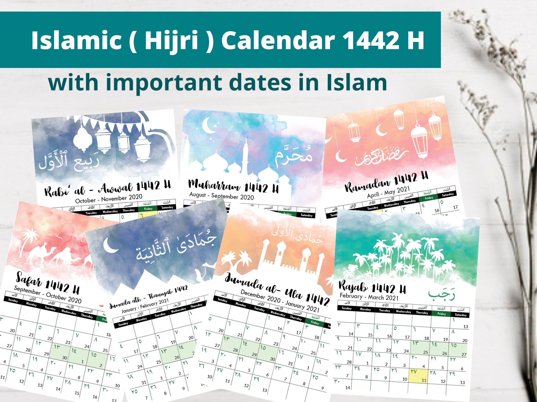 Islamic Hijri Calendar 2021 1442 H 1443 H Hijri Calendar Christian Calendar Calendar