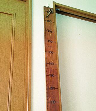 欲張りママのブログ♪:手作り身長計♪