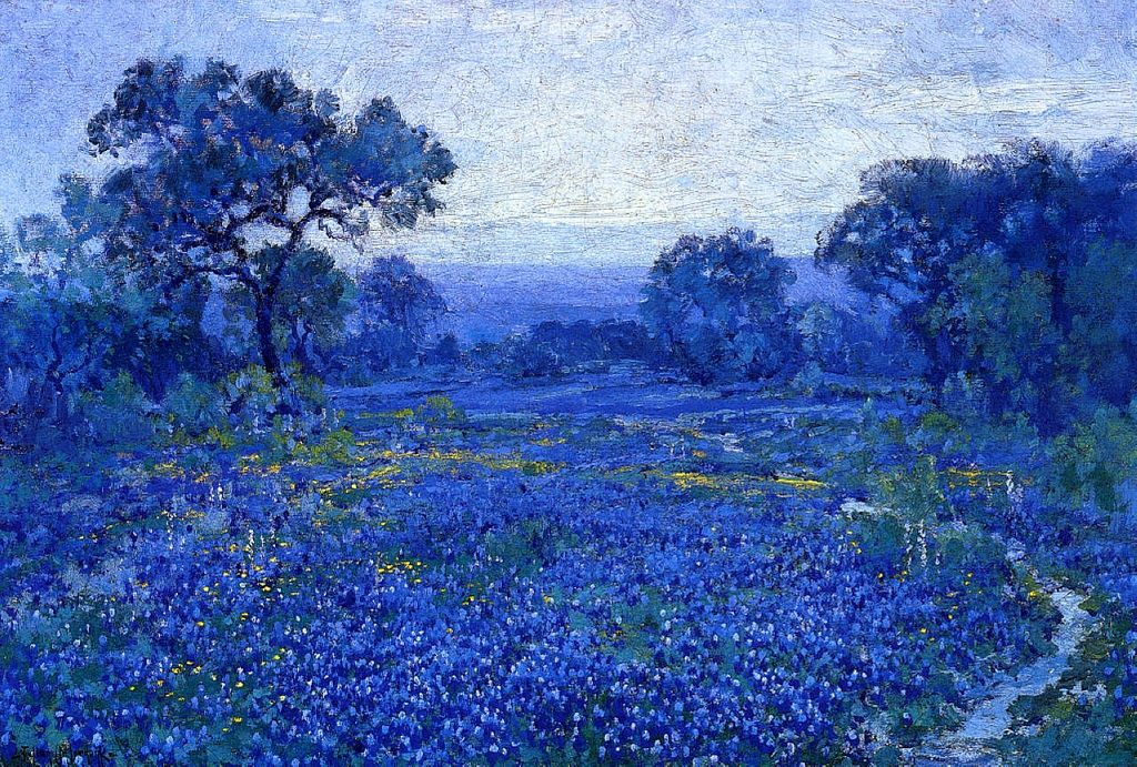 Onderdonk Robert American 1882 1922 Bluebonnet Scene 1921 Contemporary Landscape Painting Landscape Art Landscape Paintings