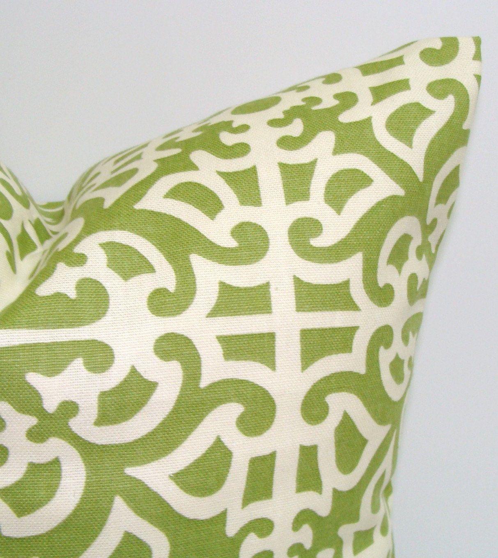 Green Pillow.12x16 or 12x18 inch Decorator Lumbar Pillow ...