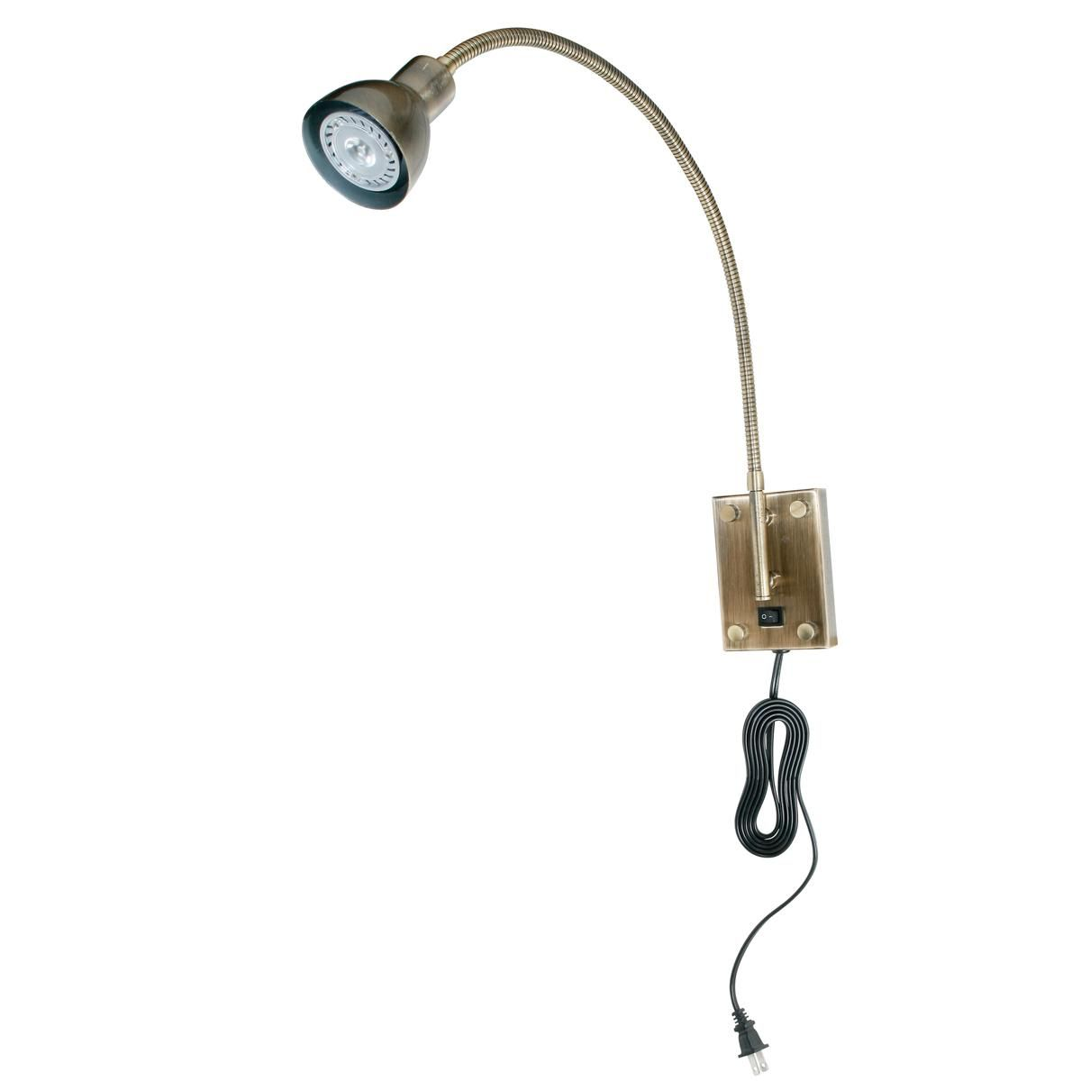 Led Gooseneck Reading Swing Arm Wall Lamp Project Boys