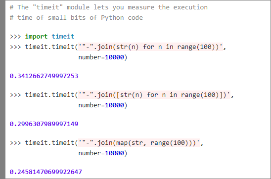 Measure the execution time of small bits of Python code with