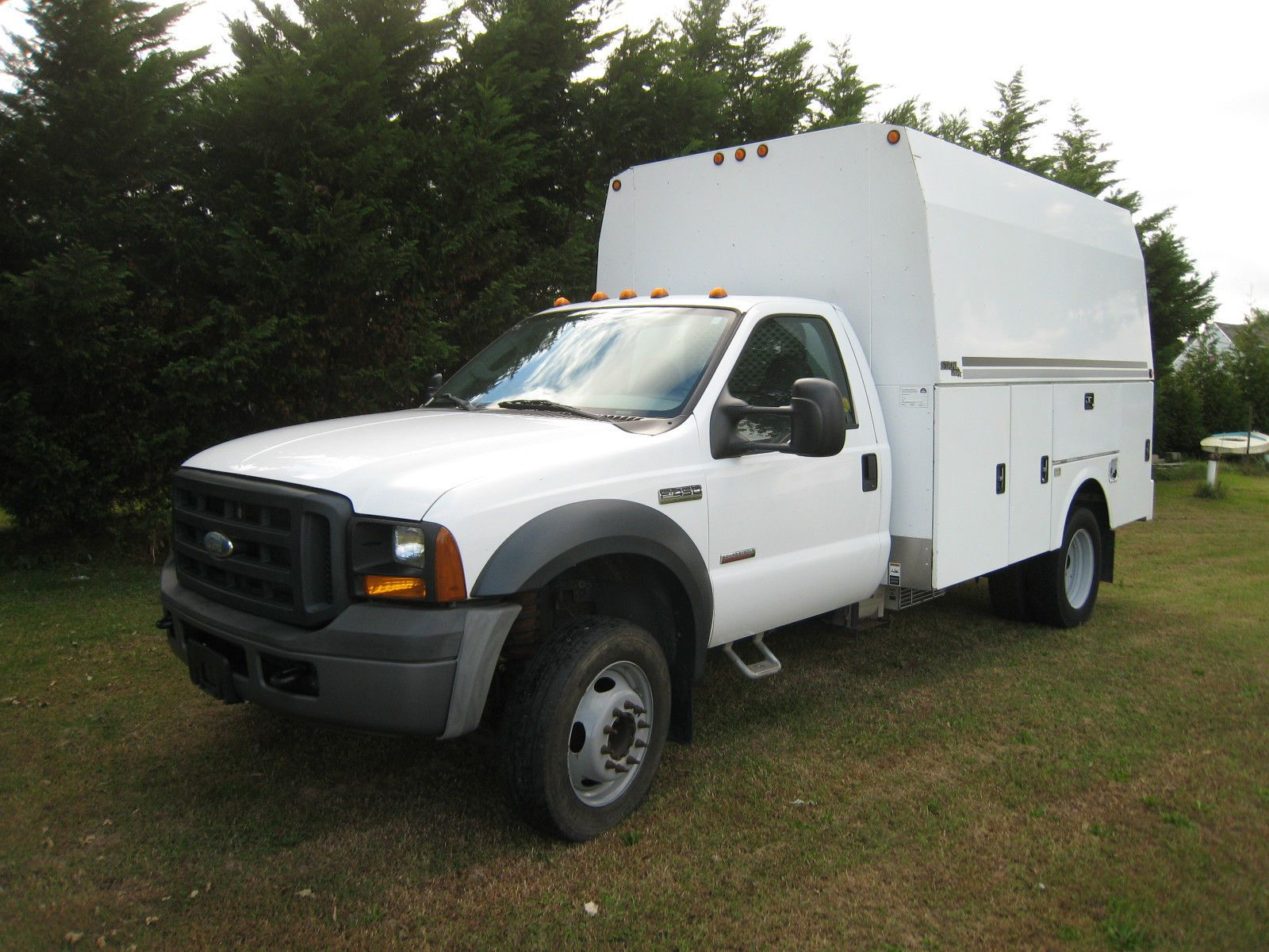 2006 ford f-450 utility service truck with stahl walk-in van body