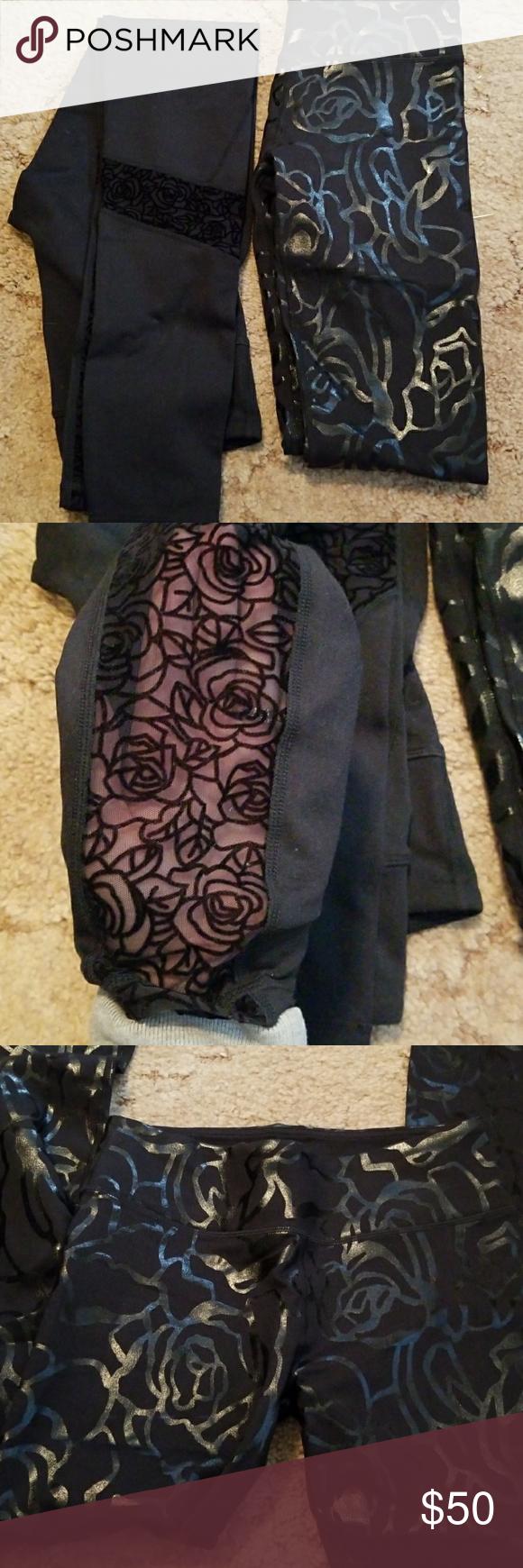 Fabletics leggings bundle Rose detailed fabletics leggings. Both XS. Great condition . Fabletics Pants Leggings
