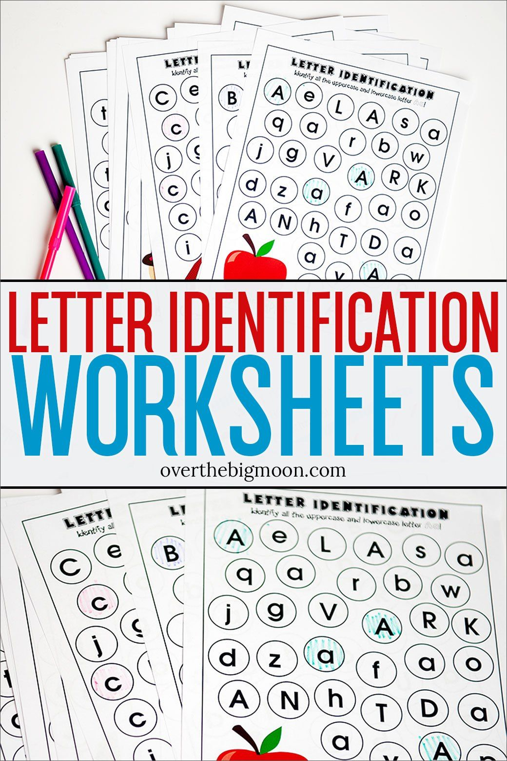 Letter Identification Printables Overthebigmoon In