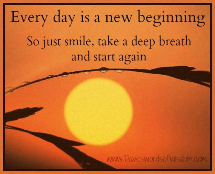Everyday Is A New Beginning Good Morning Quotes New Beginnings New Day Quotes