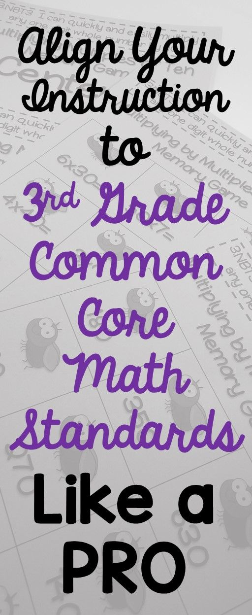 Align your instruction to 3rd Grade CC Math