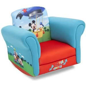 Upholstered Childs Mickey Mouse Rocking Chair