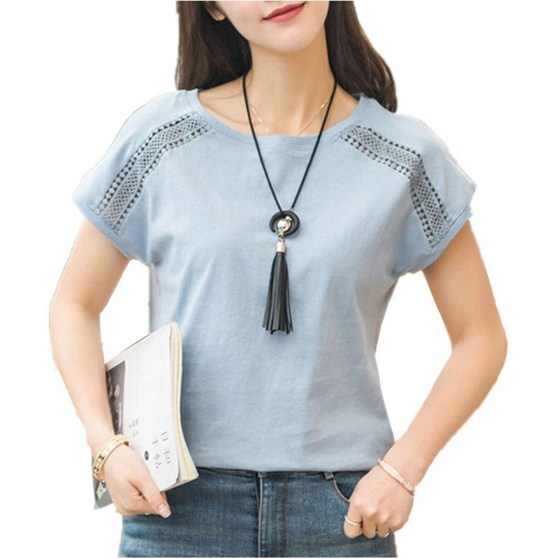 ab7a70e906db5 Encontrar Más Blusas y camisas Información acerca de Algodón más tamaño Blusas  2018 verano Blusas femenino