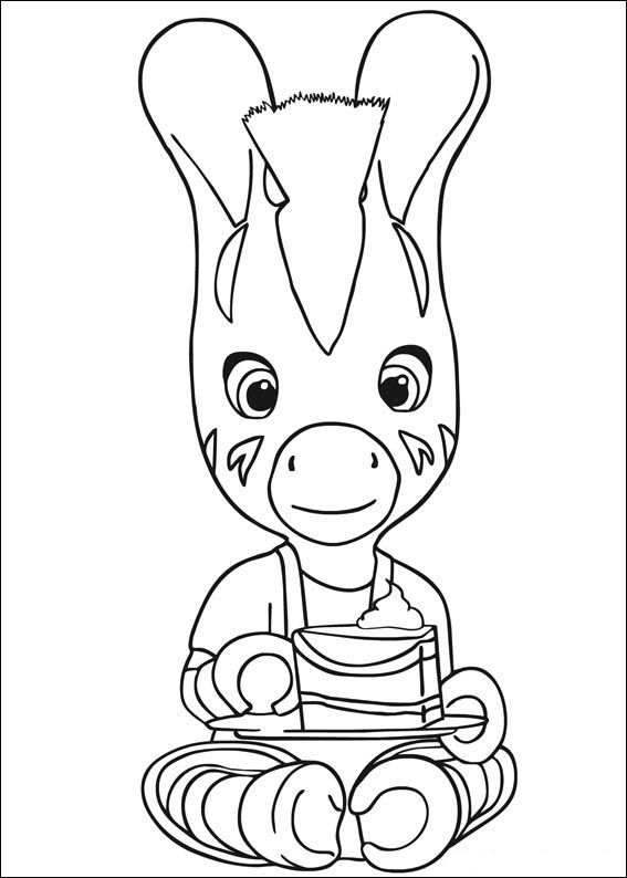 zouzou 4 ausmalbilder für kinder malvorlagen zum