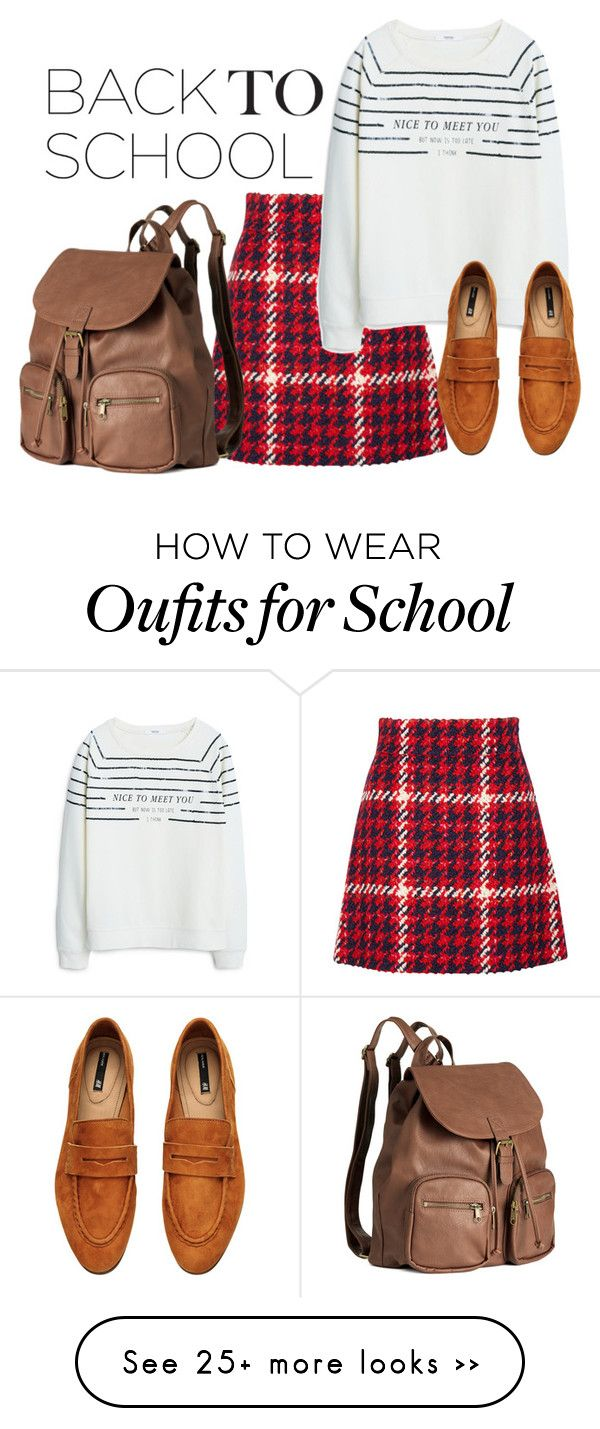"""Back to School Made Easy"" by tynestar on Polyvore featuring Miu Miu, MANGO and H&M"