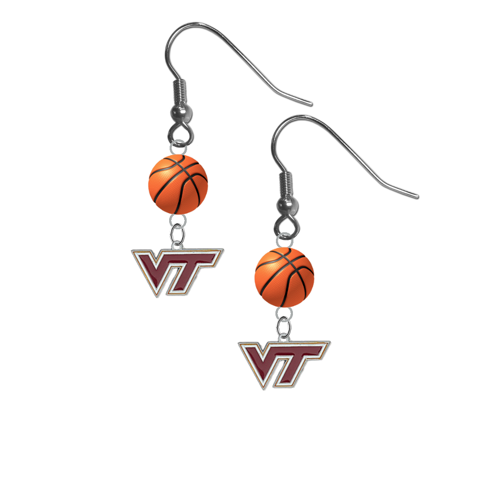 Virginia Tech Hokies NCAA Basketball Dangle Earrings