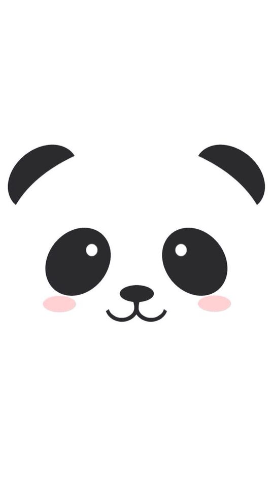 Cute Kawaii Panda Lockscreen Homescreen Bayi Panda Ilustrasi