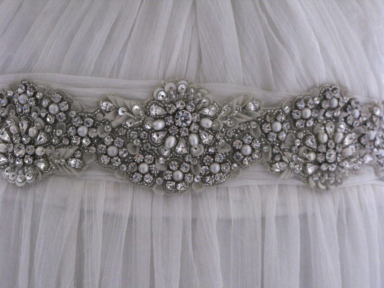 Jewelled bridal belt or crystal sash - Lush