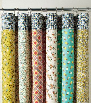 Half Moon Bay Reversible Shower Curtain Eclectic Shower
