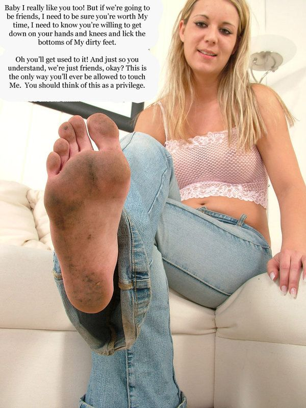 fetish Dirty captions foot