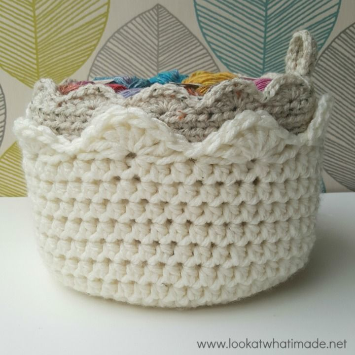 A Touch of Scallop - free crochet basket pattern by Dedri @ Look at ...