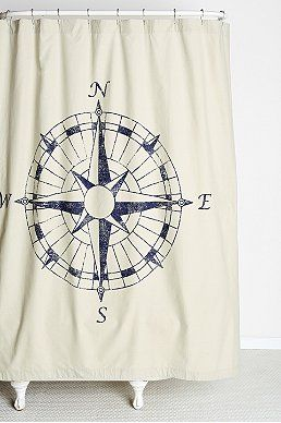 A Nautical Shower Curtain I Love All Of Urban Outfitter Curtains So Cute And Diverse