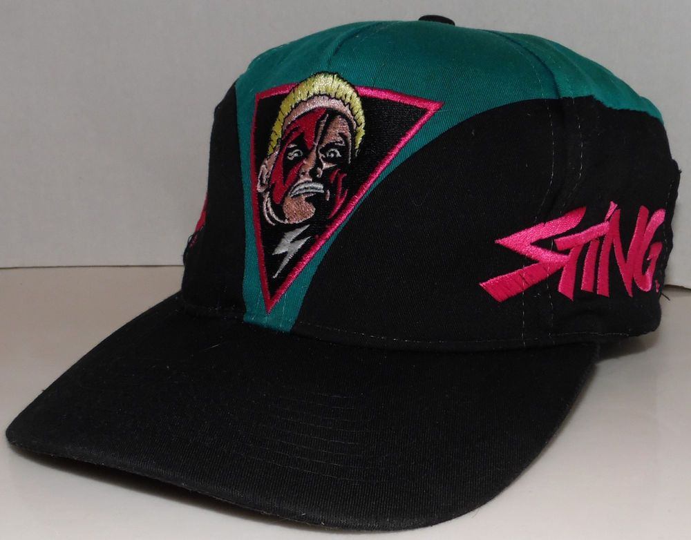 WCW Wrestling Sting RARE Official Product Vintage 90 s Colorful Snapback Hat  Cat  WCW cdc2b3eaef3f
