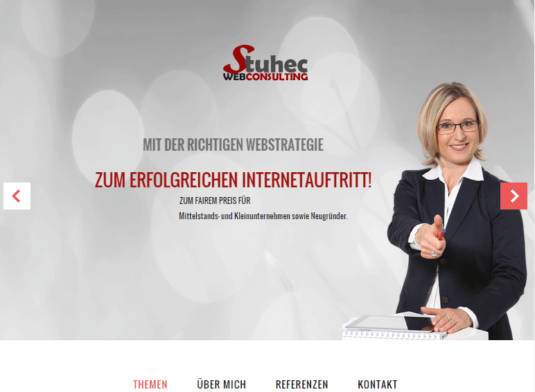 Eigene Website http://webconsulting-stuhec.com/