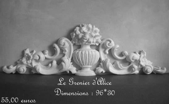 fronton r sine haut de porte deco charme shabby chic et romantique french decor frontons. Black Bedroom Furniture Sets. Home Design Ideas