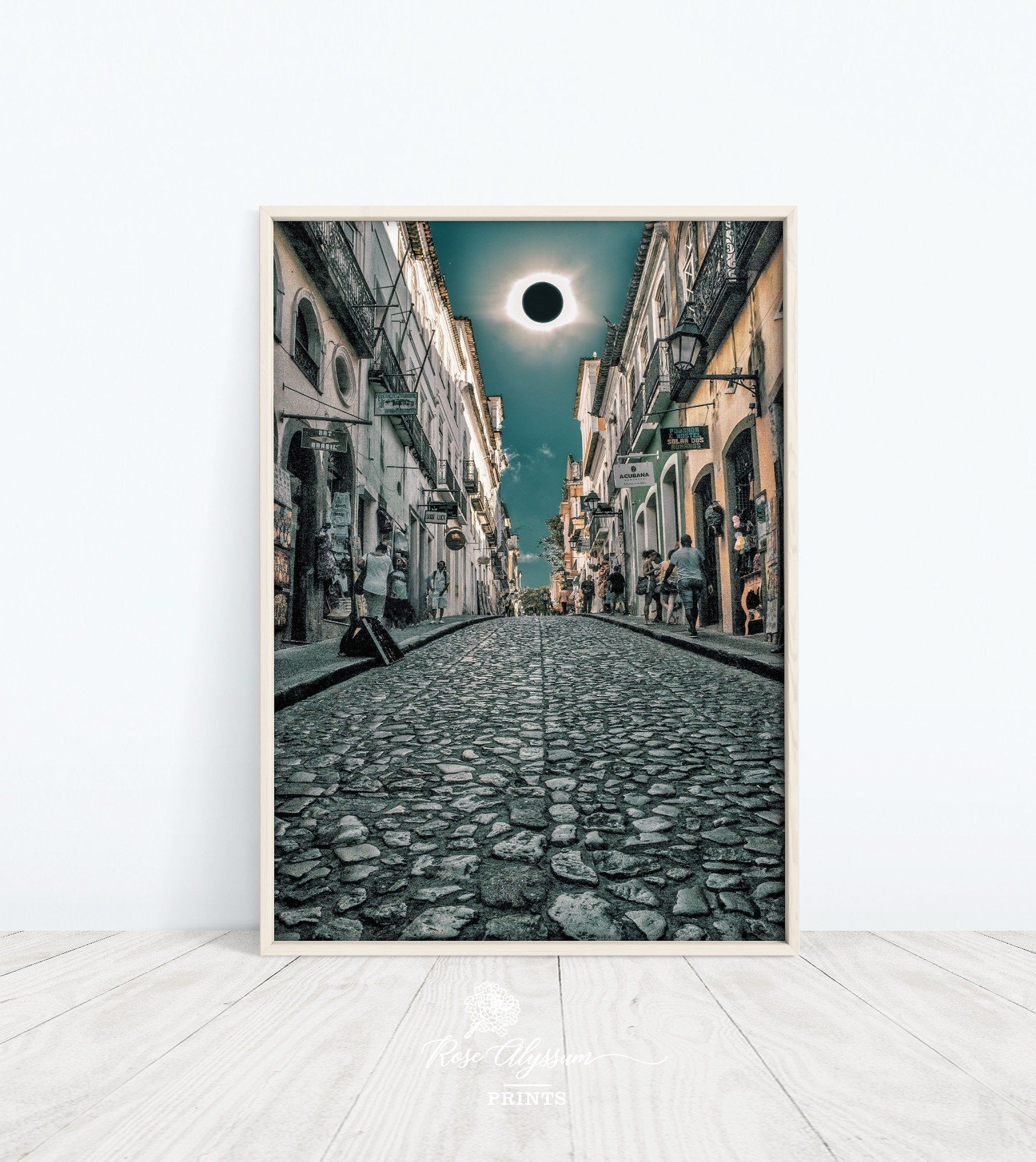 Total Solar Eclipse Prints Art Eclipse And The People On